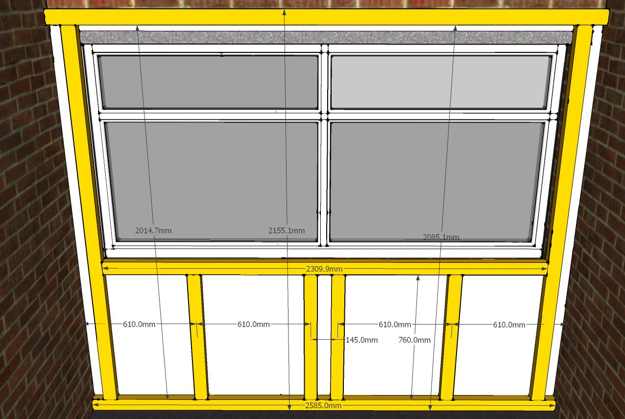 Phase 02a End Wall Stud Dimen on The End Page